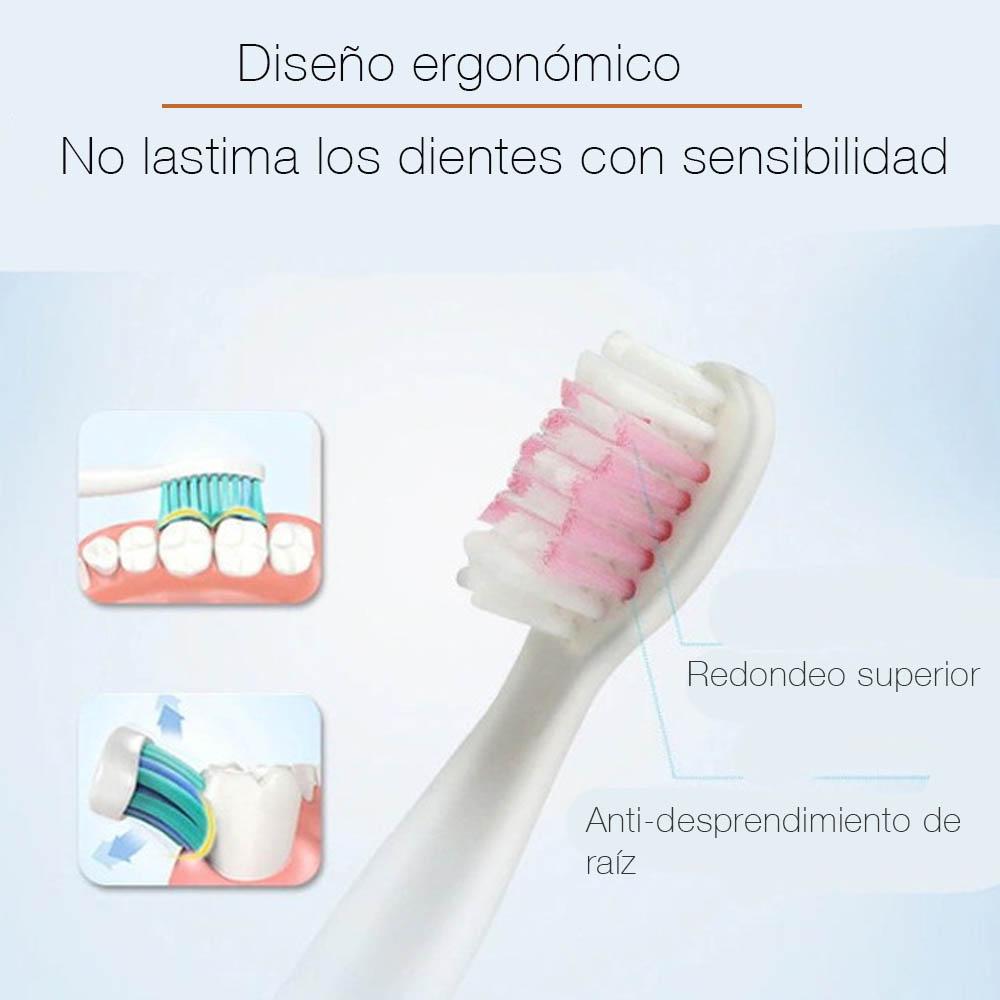 Cepillo de dientes Electronico recargable usb 4 repuestos