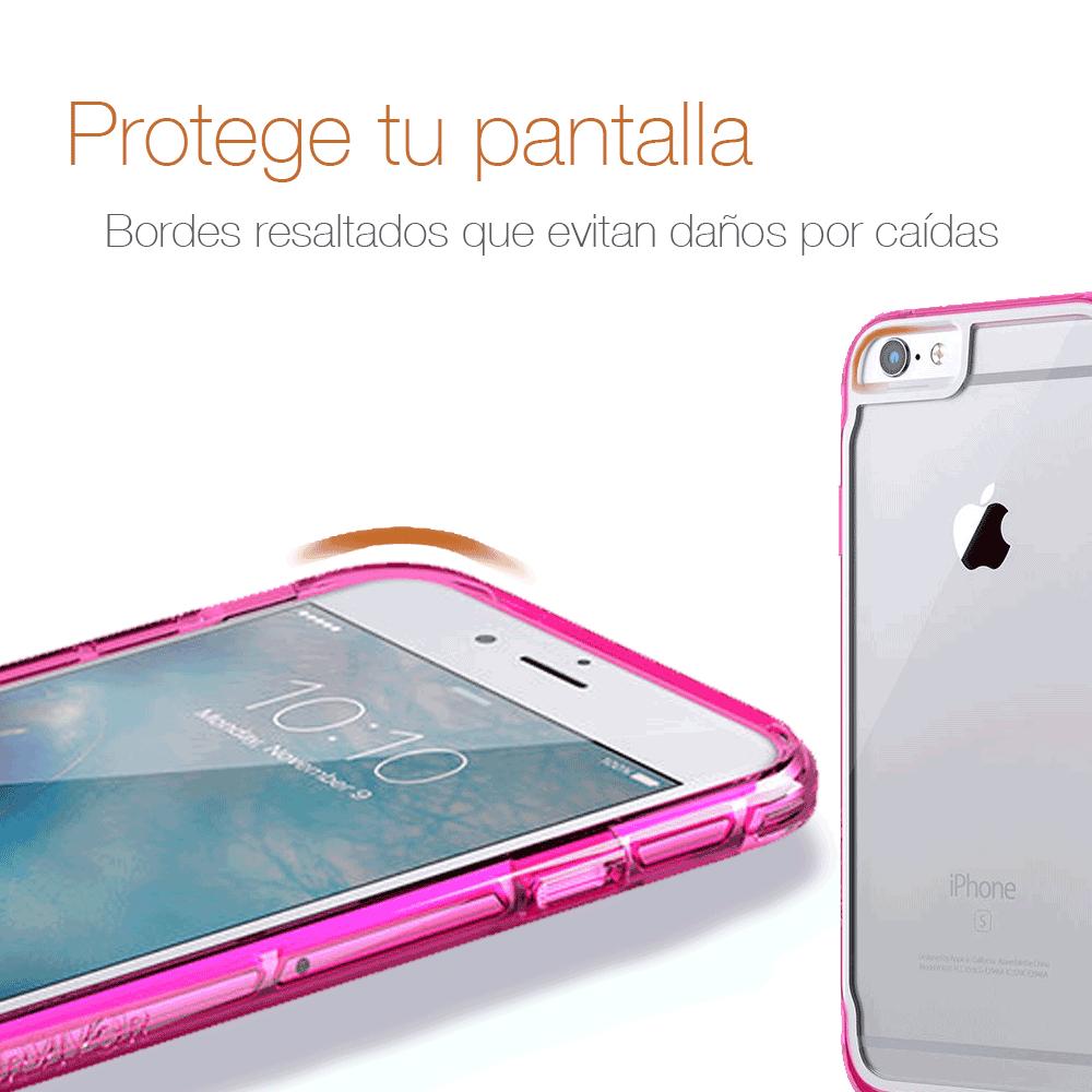 Protector Griffin Clear Funda Transparente Uso Rudo iPhone SE 2020 / 7 / 8 / 6S / 6 Rosa