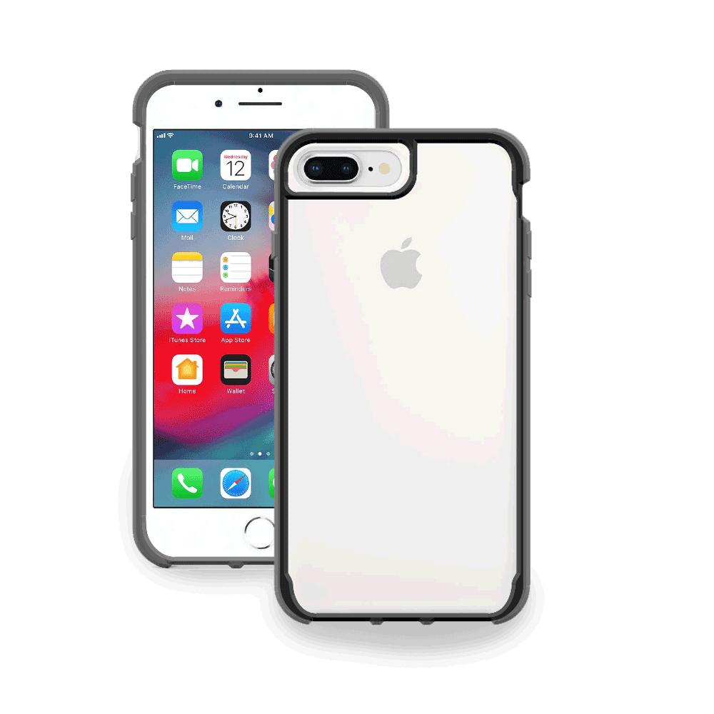 Protector Griffin Survivor Clear Funda Transparente Uso Rudo iPhone 7 Plus / 8 Plus / 6S Plus / 6 Plus Negro