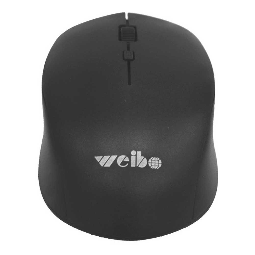 Mouse Inalambrico recargable 4 botones DPI 3200, 2.4 Ghz 10M Negro