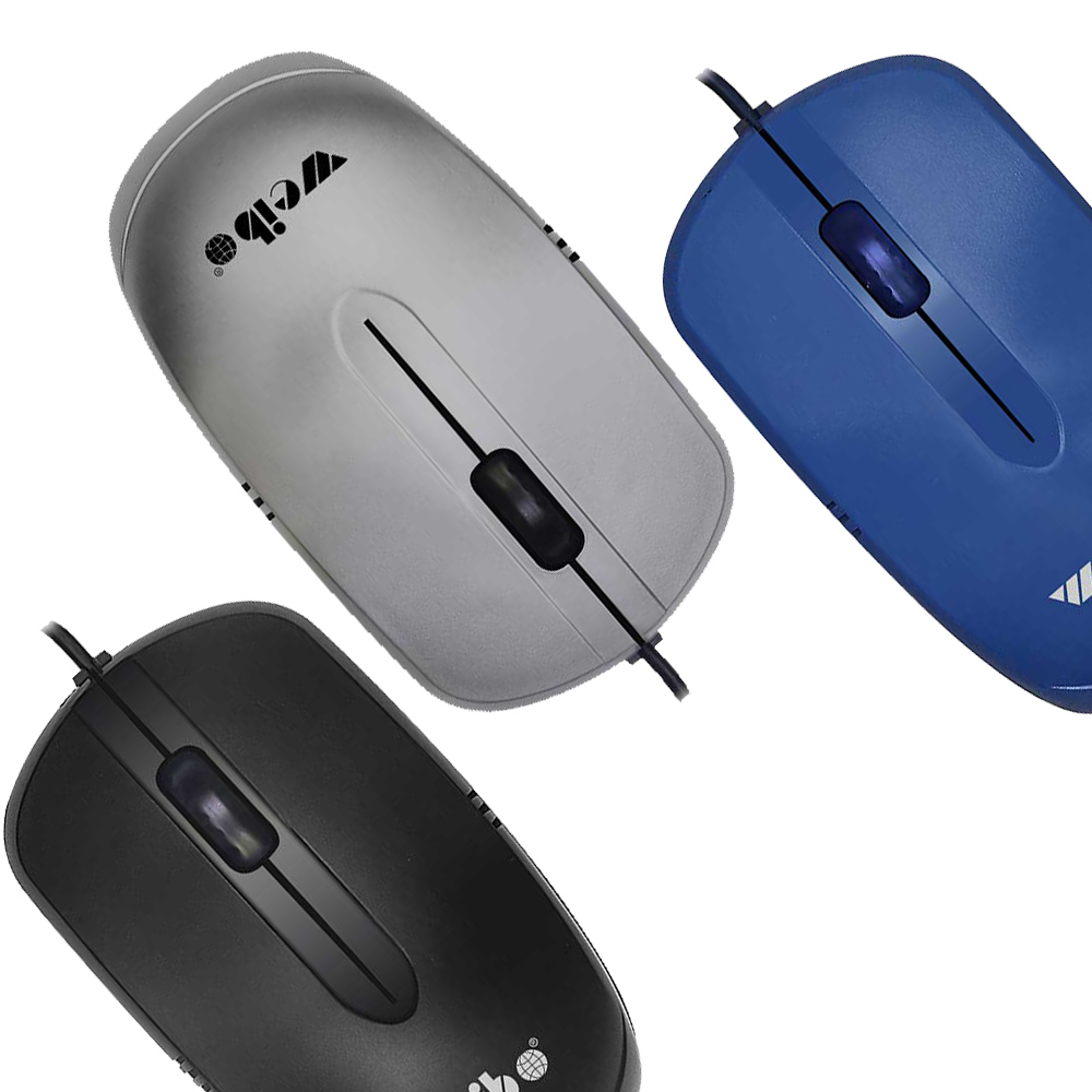 Mouse Optico Alambrico 1600 dpi Alta precision