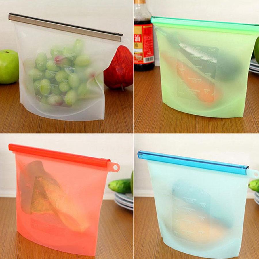 Bolsas De Silicon Reutilizables Para Alimentos Sello Hermeti 1 pieza