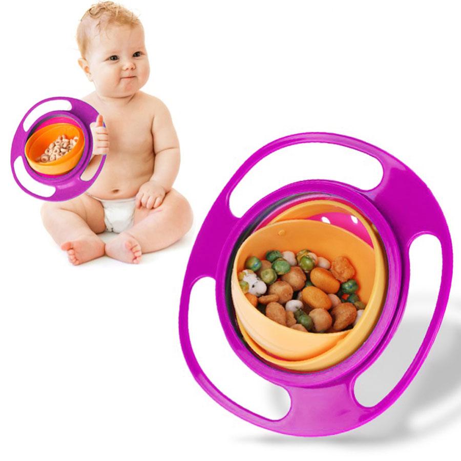 Gyro Bowl 360 Plato Tazón Anti Caídas Derrames P. Niños Bebé