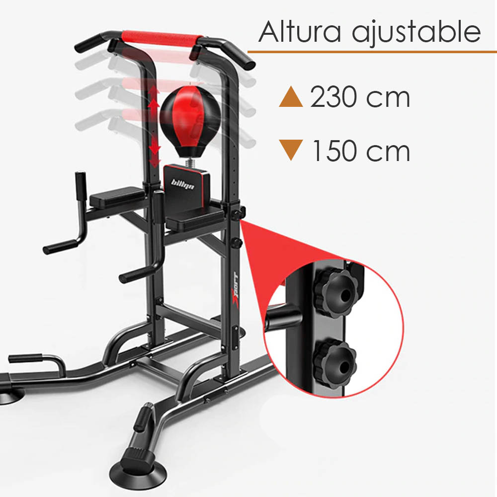 Equipo Barras 6206C Estación Pull Ups Athletic Works Abdominales Dominadas con pera box