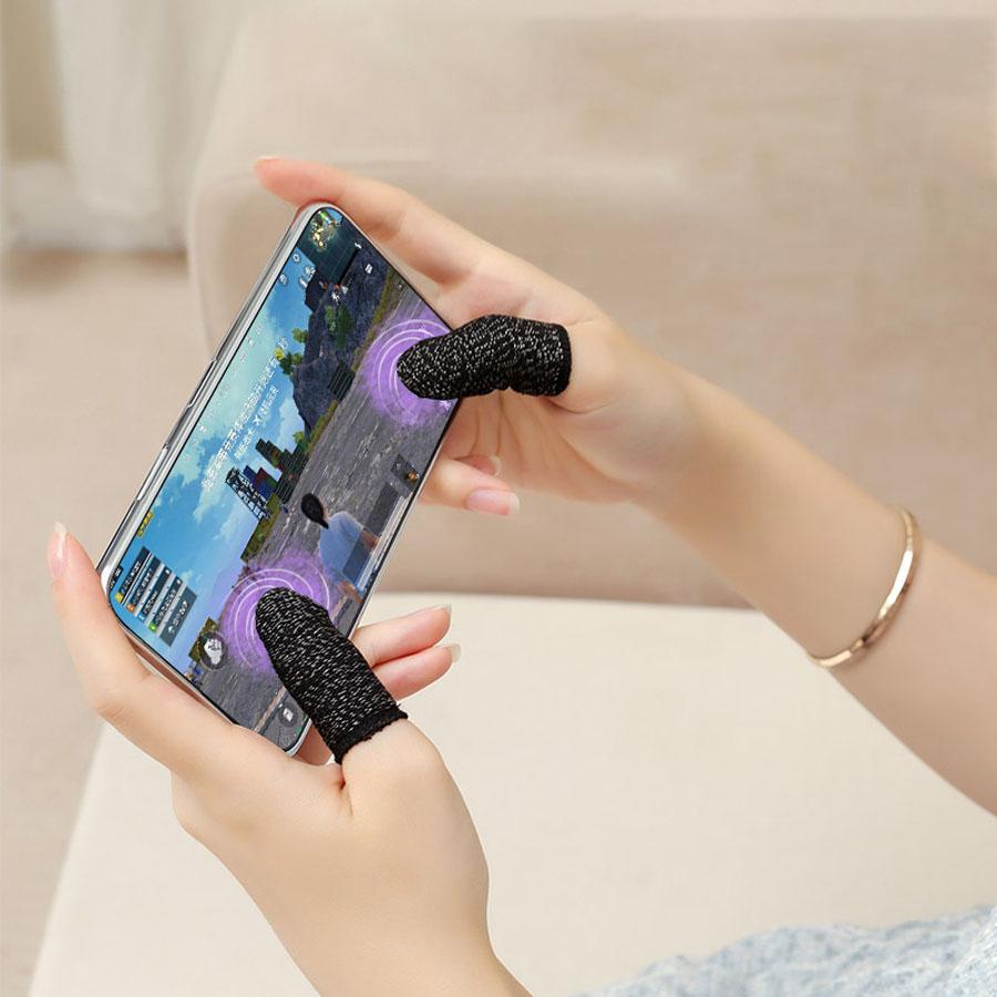 Guantes para Dedos de Fibra Conductiva Touch Gaming Antisudor