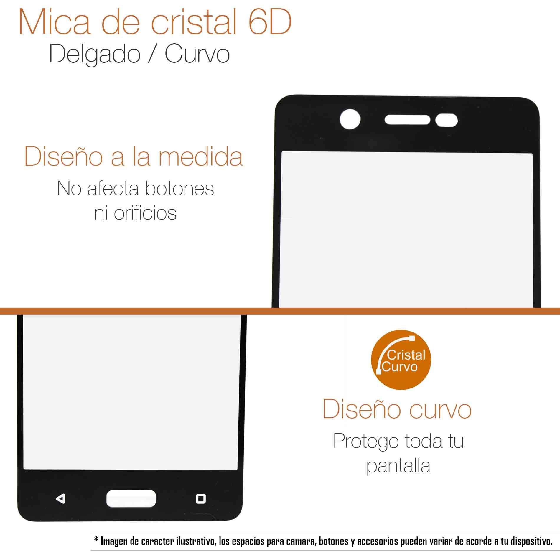 Mica Cristal Templado Curva 5D Xiaomi Redmi Note 9S / Note 9 Pro