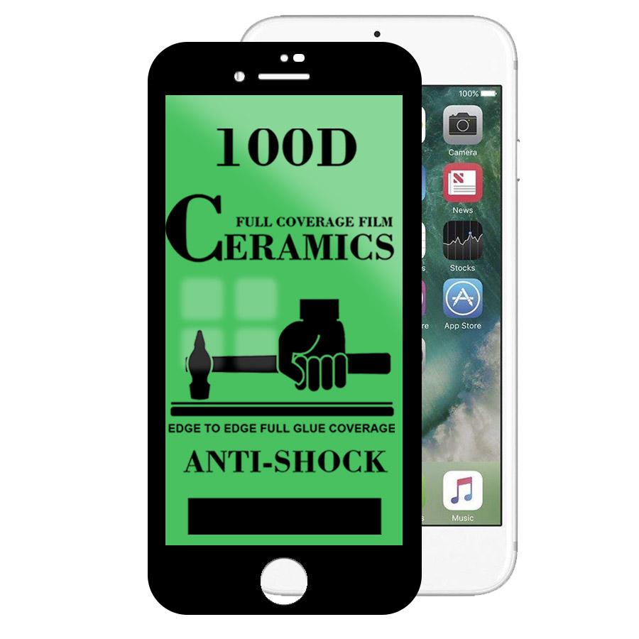 Mica Cerámica Protector de Pantalla Full Cover AntiShock Apple iPhone 7 Plus, iPhone 8 Plus