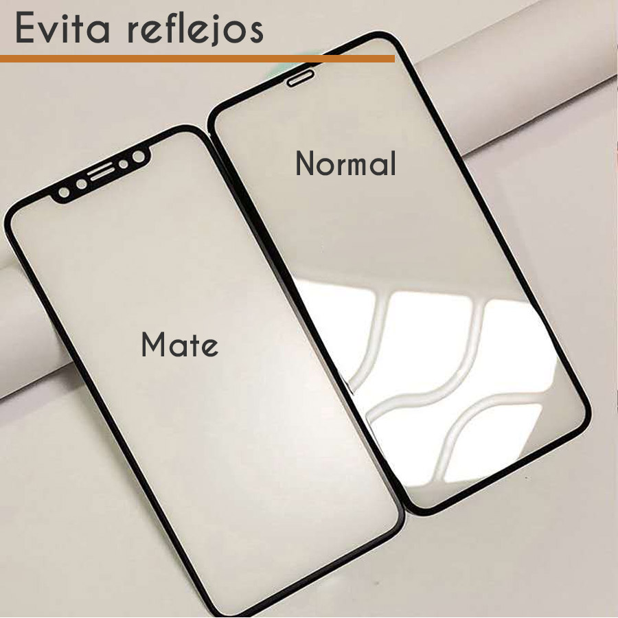 Mica Cerámica Mate Protector de Pantalla Full Cover Gamer Apple iPhone X, iPhone XS Negro