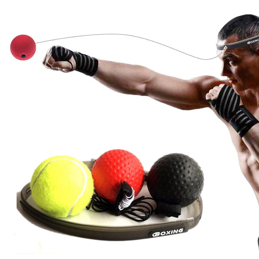 Pelotas con Diadema de Entrenamiento Artes Marciales Box UFC MMA Reflejos Velocidad