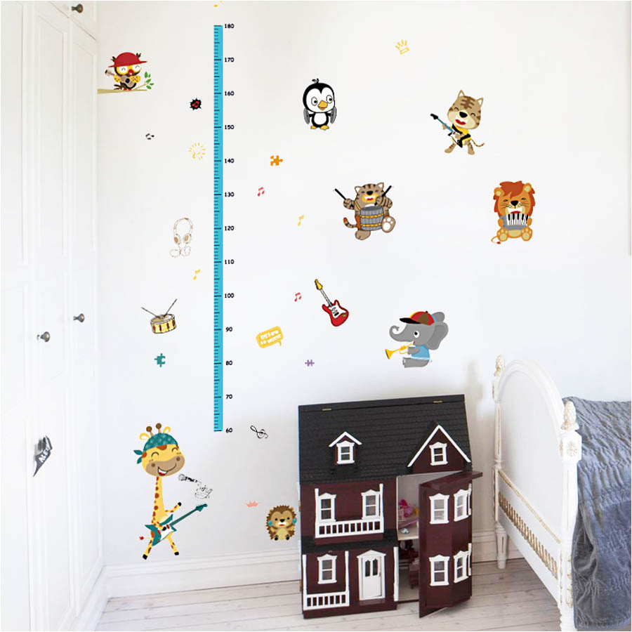 Pegatinas Pared Niños Wall Stickers Animales Músicos