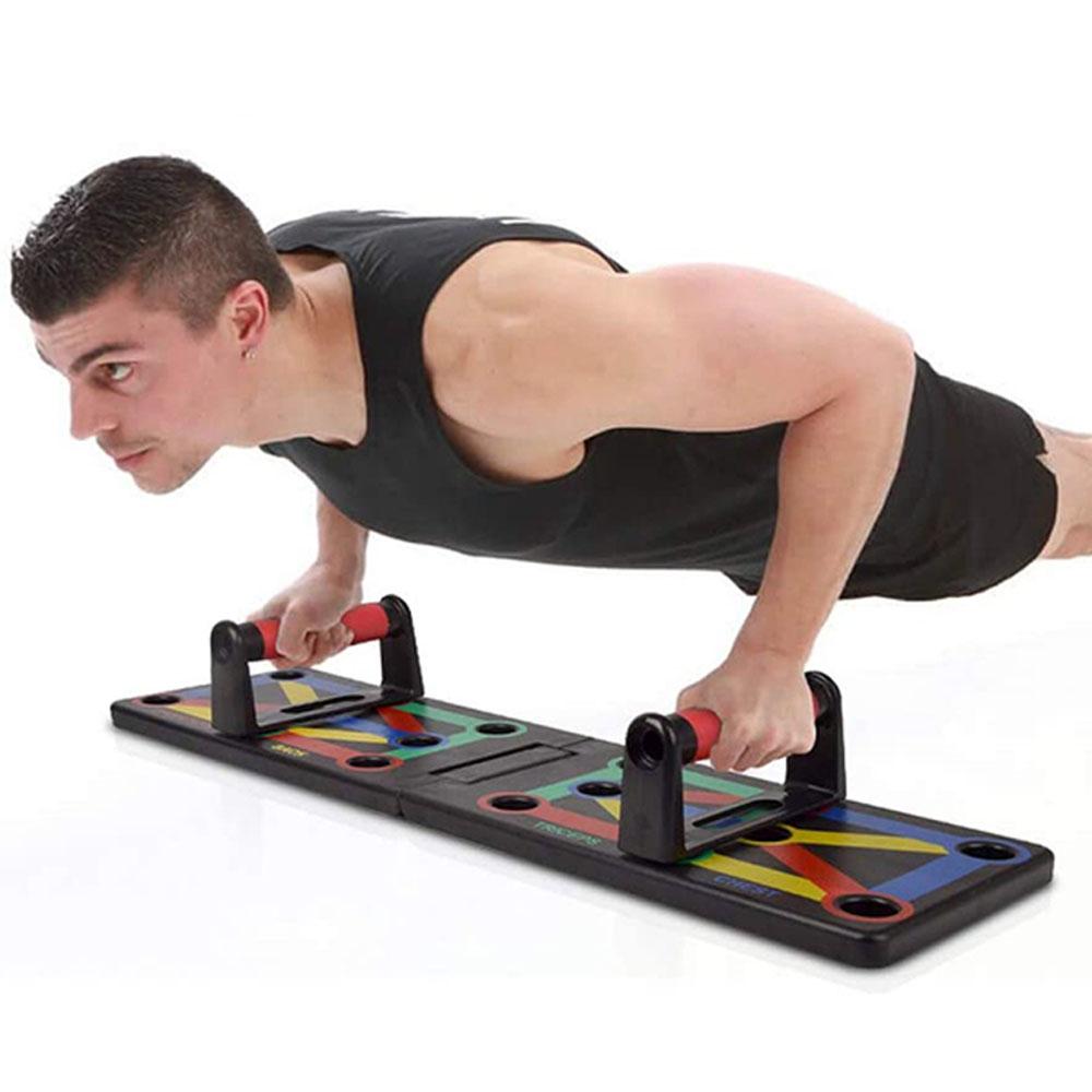 Soportes con Tabla Guía para Flexiones Push Ups Diversas Rutinas Gym