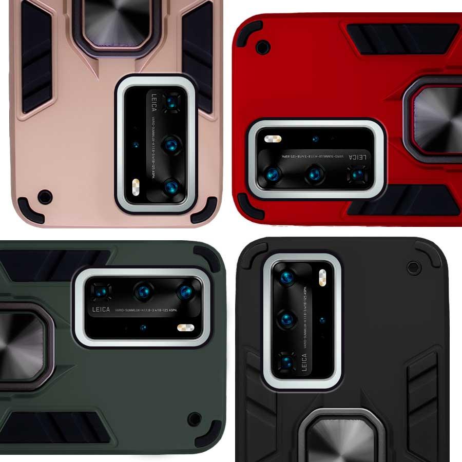 Funda Warrior Case Anillo Stand Magnético Uso Rudo Huawei P40 Pro