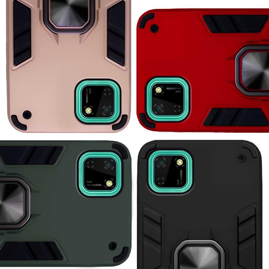 Funda Warrior Case Anillo Stand Magnético Uso Rudo Huawei Y5p / Honor 9s