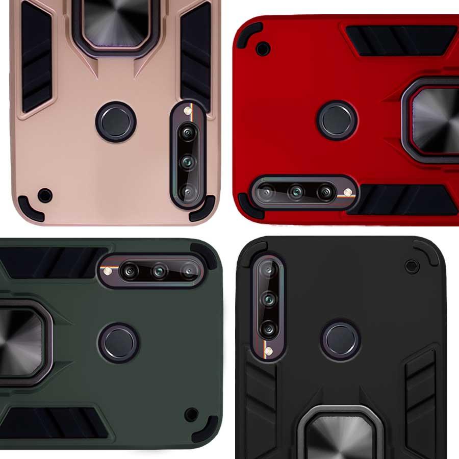 Funda Warrior Case Anillo Stand Magnético Uso Rudo Huawei Y7p