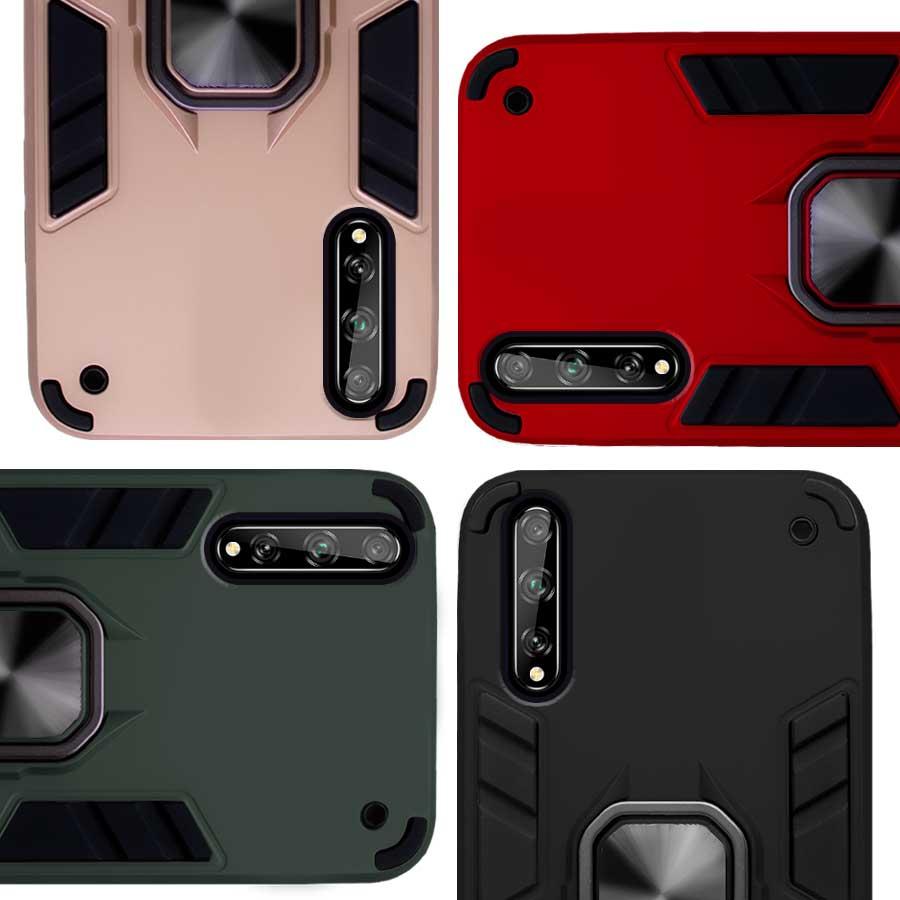 Funda Warrior Case Anillo Stand Magnético Uso Rudo Huawei Y8p / Enjoy 10s