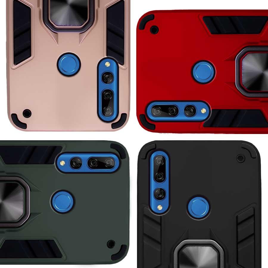 Funda Warrior Case Anillo Stand Magnético Uso Rudo Huawei Y9 Prime 2019 / Honor 9X