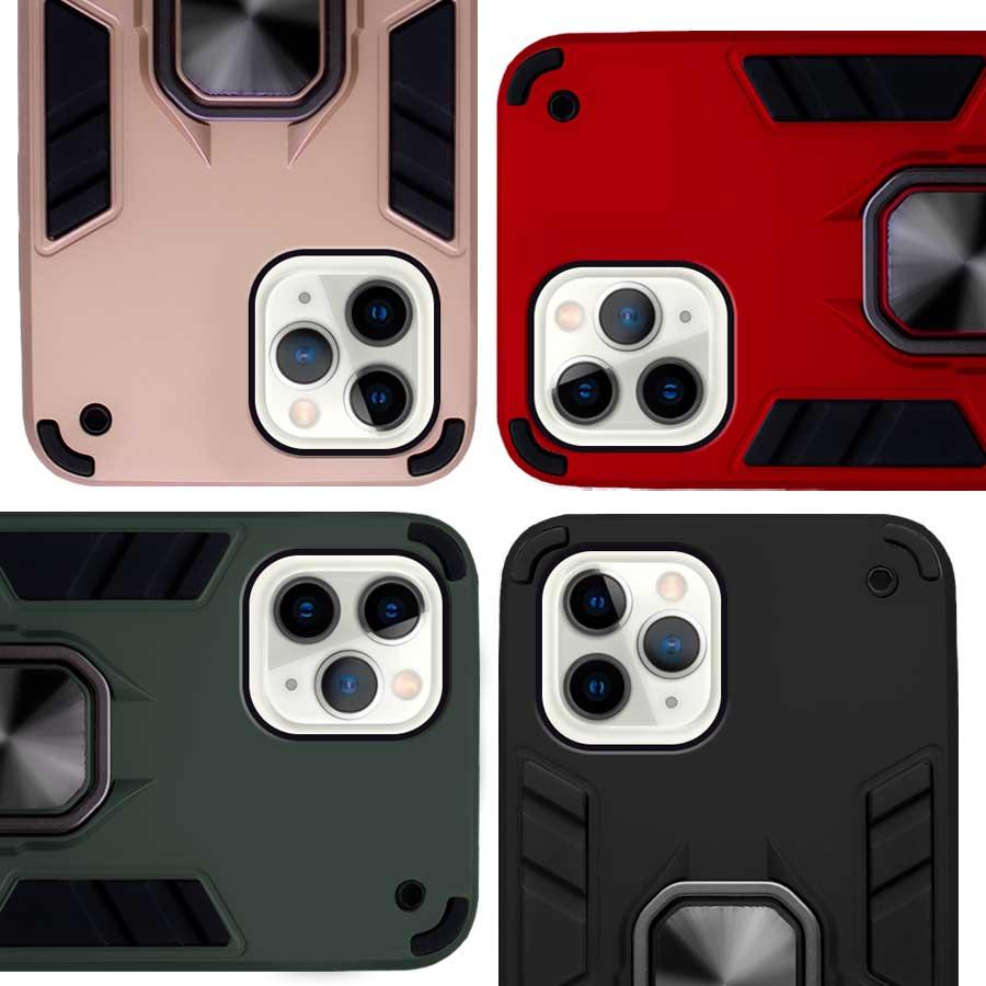 Funda Warrior Case Anillo Stand Magnético Uso Rudo Apple iPhone 11 Pro