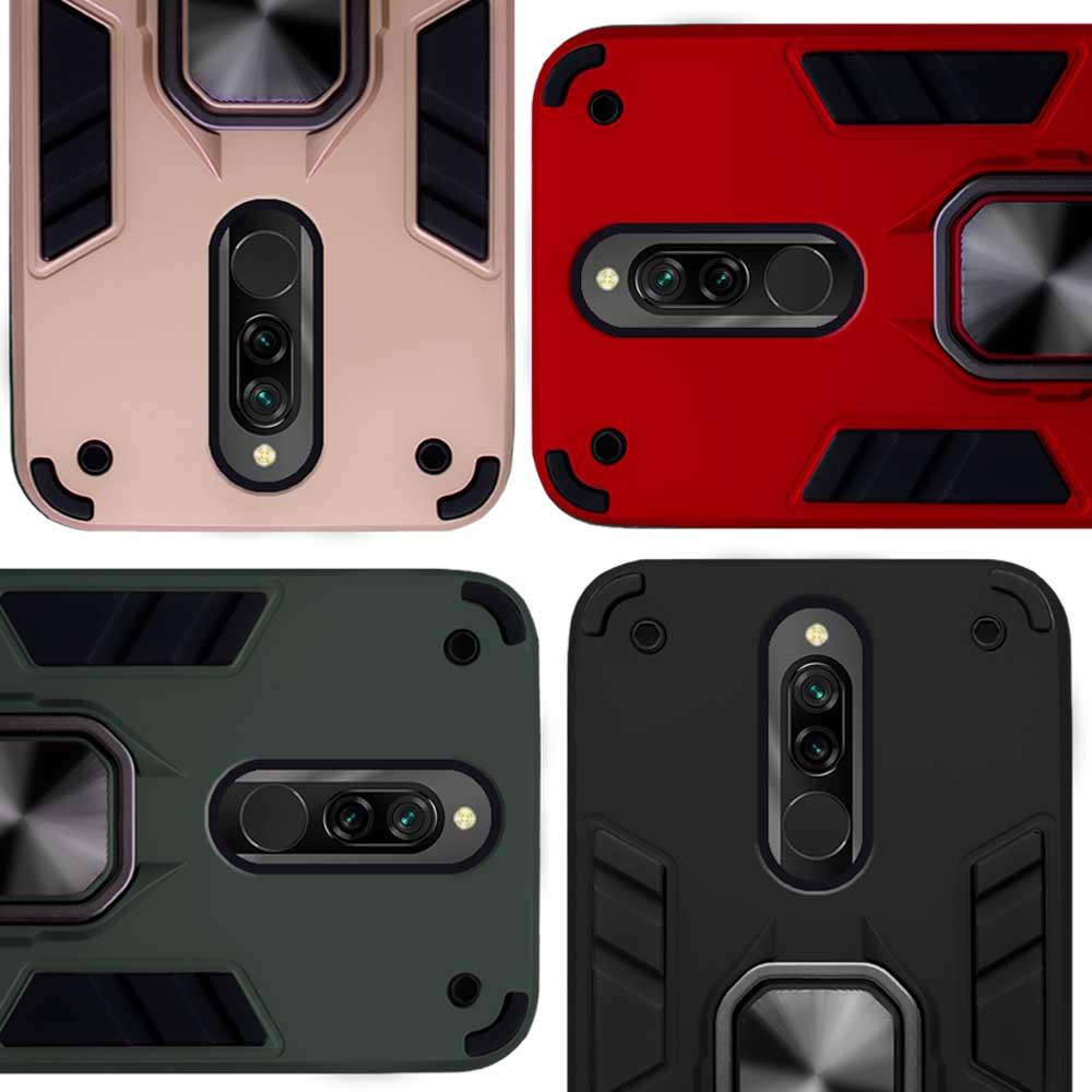 Funda Warrior Case Anillo Stand Magnético Uso Rudo Xiaomi Redmi 8 / Redmi 8A