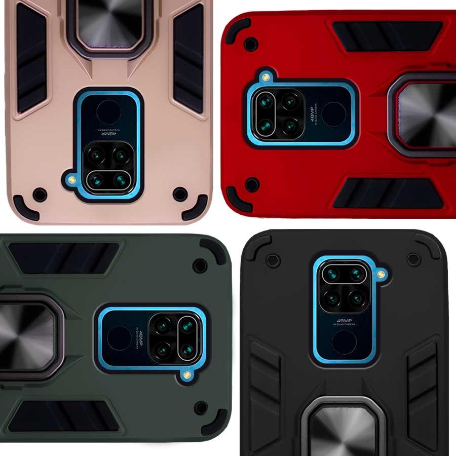 Funda Warrior Case Anillo Stand Magnético Uso Rudo Xiaomi Redmi Note 9 / Redmi 10X 4G
