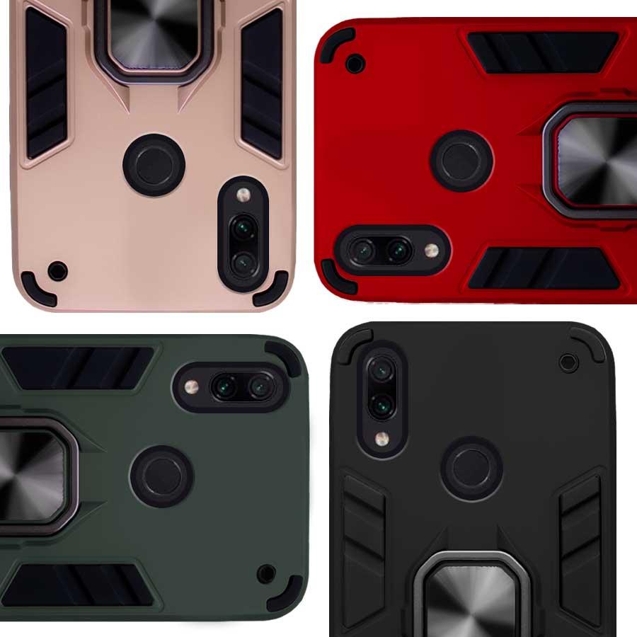 Funda Warrior Case Anillo Stand Magnético Uso Rudo Xiaomi Redmi Note 7