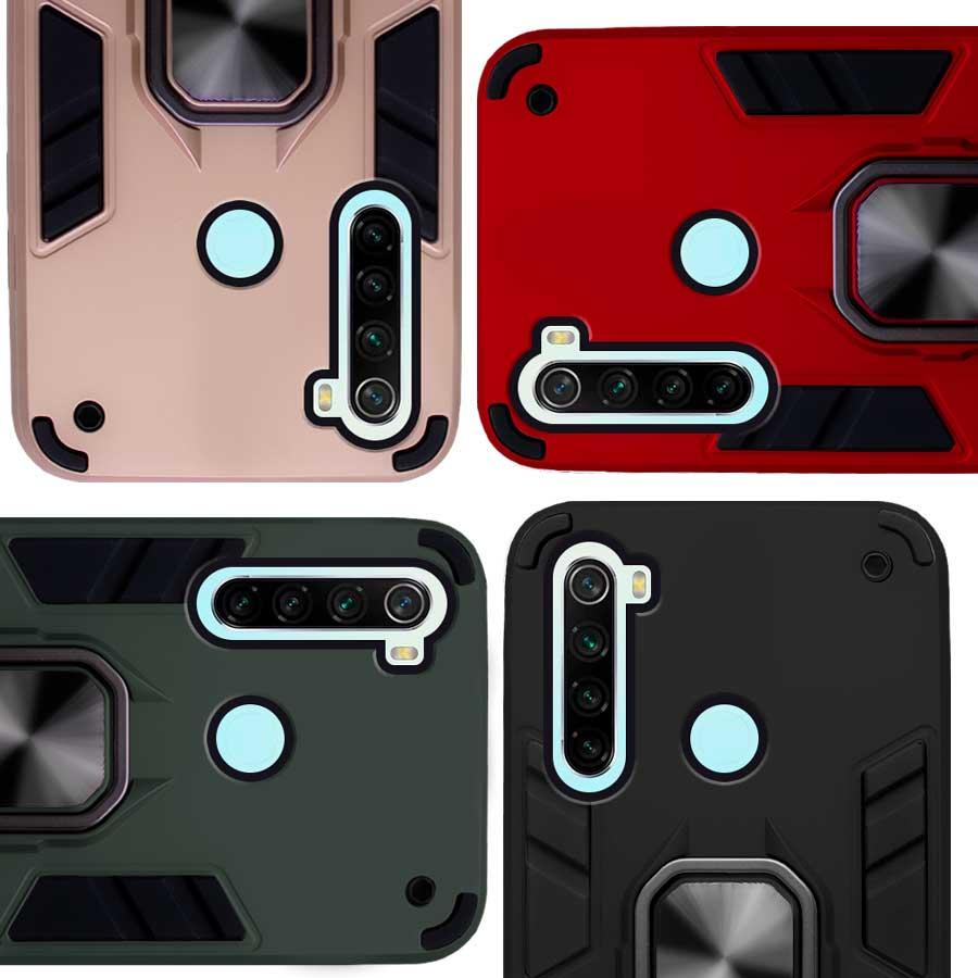 Funda Warrior Case Anillo Stand Magnético Uso Rudo Xiaomi Redmi Note 8