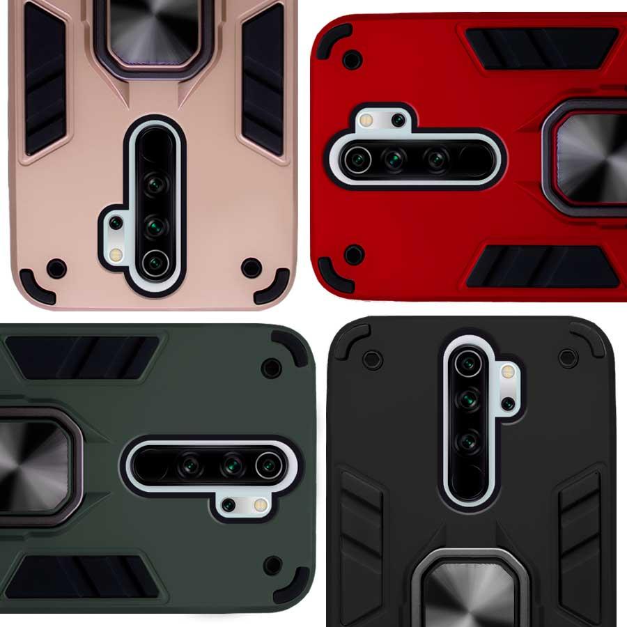Funda Warrior Case Anillo Stand Magnético Uso Rudo Xiaomi Redmi Note 8 Pro